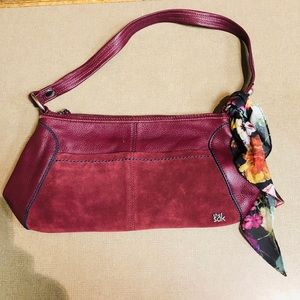 The Sak Iris Small Leather Hobo - Cabernet Block